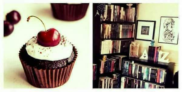 cupcakes and bookshelves